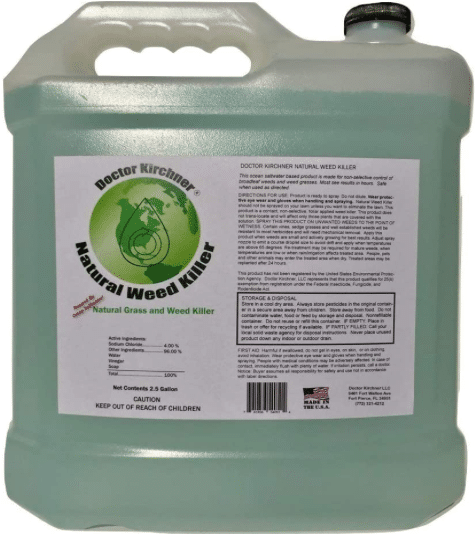 Doctor Kirchner Natural Weed & Grass Killer (2.5 Gallon) Pet and Kid Safe No Glyphosate and No Hormone Disrupting Chemicals review